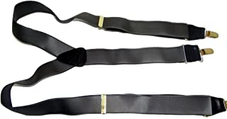 """product image for Hold-Ups Charcoal Grey 1-1/2"""" Satin Finish in Y-back with No-slip Gold Clips"""