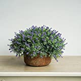 KAIMO artificial decorative plant bonsai potted plant retro semicircular flower decorations garden room hotel company school decoration - purple