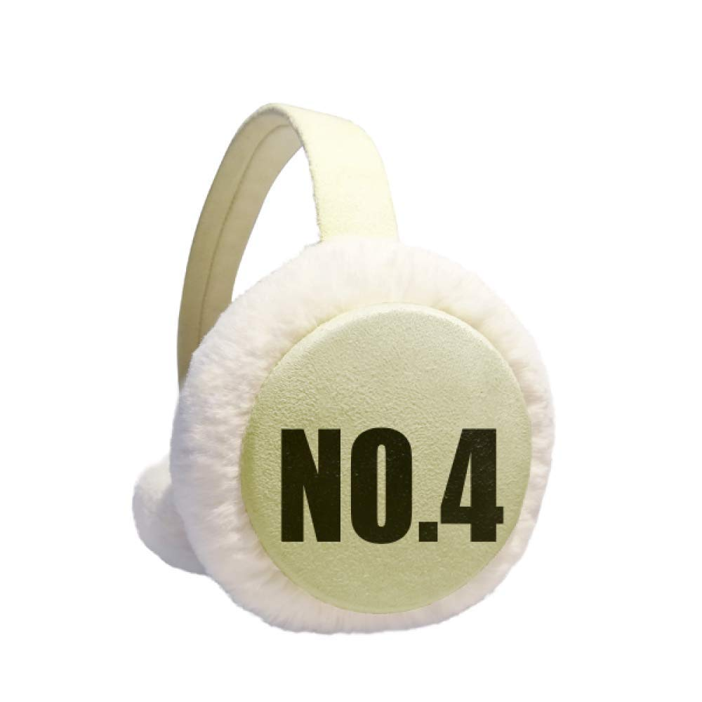 Lucky No.4 Number Name Winter Warm Ear Muffs Faux Fur Ear