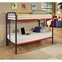 Twin/Twin Bunk Bed in Red and Blue Finish by Acme Furniture