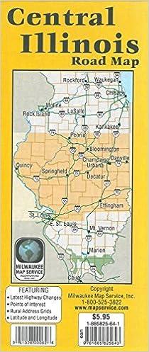 Central Illinois Road Map: 9781885825643: Amazon.com: Books