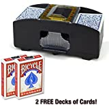 Brybelly Two Deck Card Shuffler with 2 Free Decks of Bicycle Playing Cards