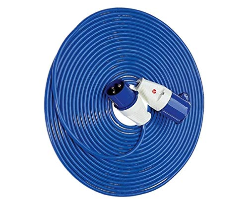 Delightful UK 14 m 220 V to 240 V Mains Hook Up Cable Extension Lead - Blue