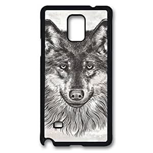 CanIs Lupus (Gray Wolf) Polycarbonate Hard Case Cover for Samsung Galaxy S3/I9300 Black