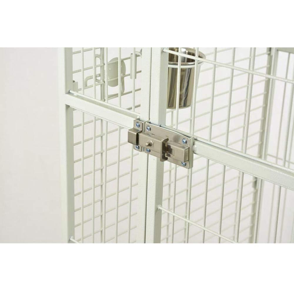 Bianco Pets Solution Gabbia voliera per pappagalli Grandi Uccelli cenerino e 100x78x178h cm Nera Bianca