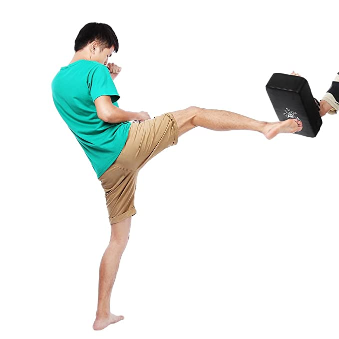 BISOZER-Fitness Taekwondo Kick Pads Boxeo Karate Pad Cuadrado Cuero PU Muay Thai MMA Arte Marcial Kickboxing Punch Mitts Punching Bag Kicking Shield Training by BISOZER-Fitness