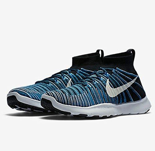 Nike Free Tog Kraft Flyknit Mænds Sko Sort / Hvid-blå Glød QTMIotNFc