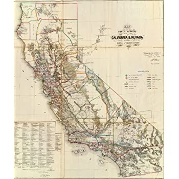 Amazoncom  California Topographic Wall Map Very Large by Raven