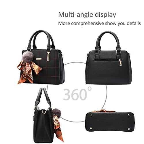 Leather PU Handbag Crossbody NICOLE Fashion Bag Messenger Women Black Shoulder New Lattice Totes amp;DORIS AWAPxwXZq7