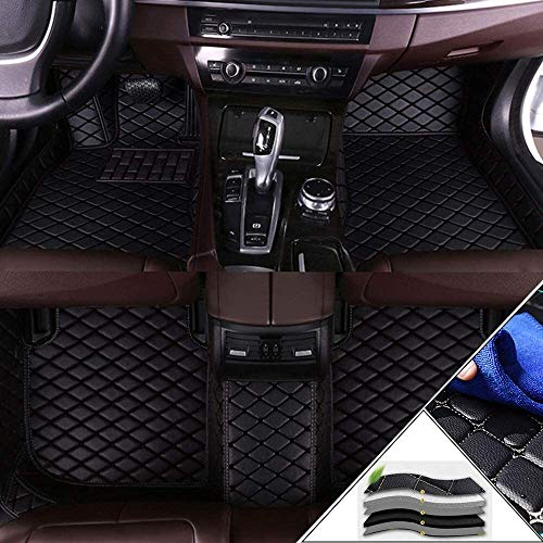 Custom Car Floor Mats for Toyota Full Coverage All Weather Protection for & achter Liner Set (Color : Black)