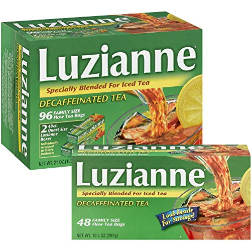 - Luzianne Decaffeinated Iced Tea 96 Family Size Bags
