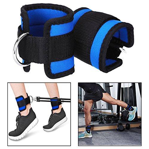 Itian Correa de tobillo - muñeca con anilla tipo D para entrenamiento, gimnasio, azul(2pcs): Amazon.es: Electrónica