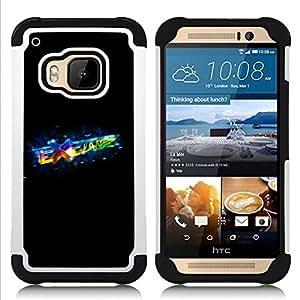"""HTC One M9 /M9s / One Hima - 3 en 1 impreso colorido de Altas Prestaciones PC Funda chaqueta Negro cubierta gel silicona suave (Intercambiar"""")"""