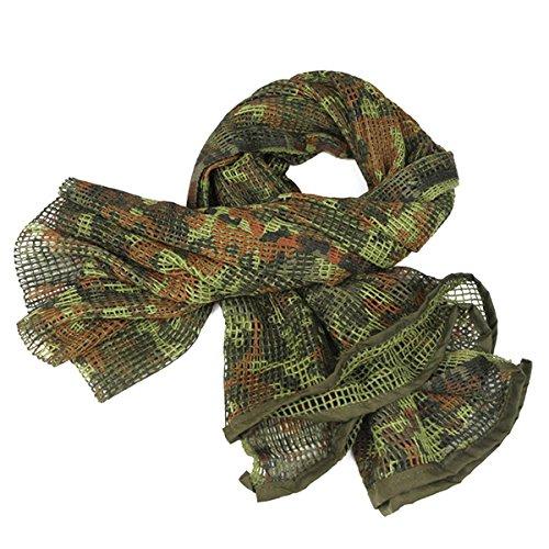 Sduck Weave Mesh Net Multi-use camo scarf, Lightweight & breathable Head Face Mask Neck Headwear Helmet Liner Headband Mask wrap Huge veil For Deer hunting Halloween costume (Weave Rayon Scarf)