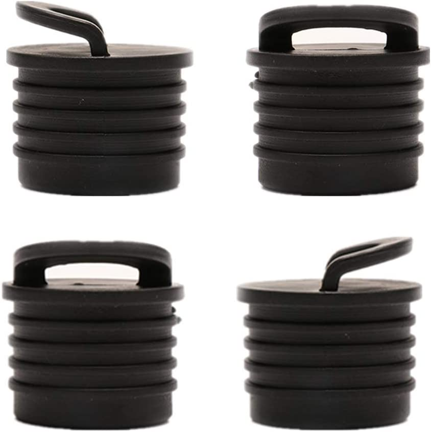 Qfauto 4 Pieces Kayak Canoe Hole Plugs Bungs Kayak Scupper Plug fit for Kayak Canoe Dinghy Marine Boat