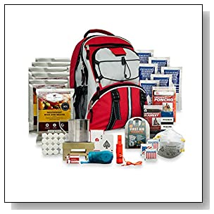 Wise Foods 5 Day Survival Back Pack, Red