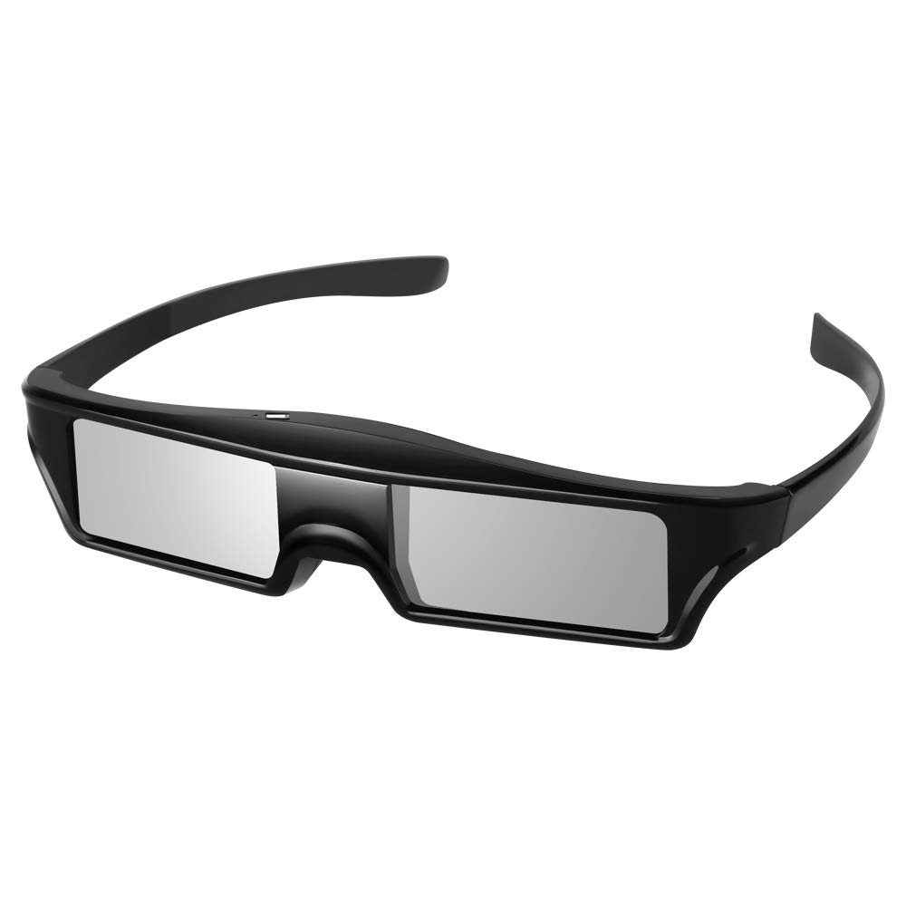 PowerLite Home Pro Cinema Sony Panasonic Samsung 3D TVs Elikliv BT 3D Active Shutter Glasses Rechargeable 3D Eyewear Compatible with Epson Projector KX-60 Pack 4