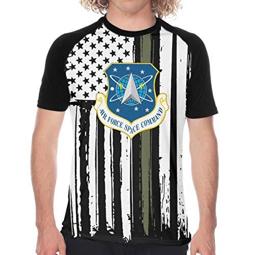 - Air Force Space Command Men's Baseball T Shirts Short Sleeve Raglan T Shirts Tee Tops XL Funny Novelty Black