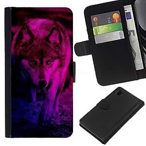 Stuss Case / Funda Carcasa PU de Cuero - Werewolf Couleur vive - Sony Xperia Z1 L39
