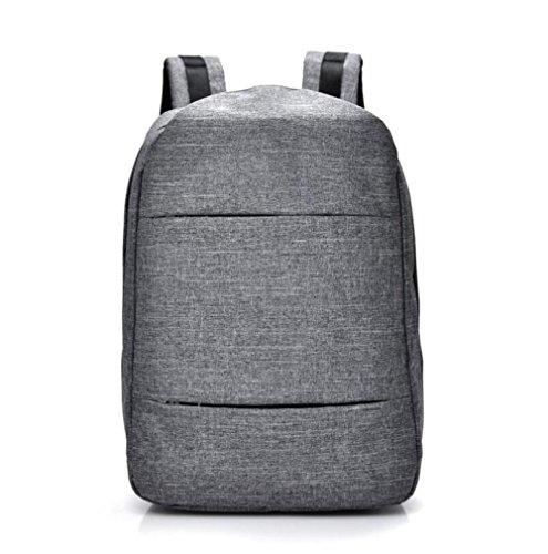 DHFUD Fashion Business College Backpack Sencillo Y Lindo Shoulders Simple Lightgray