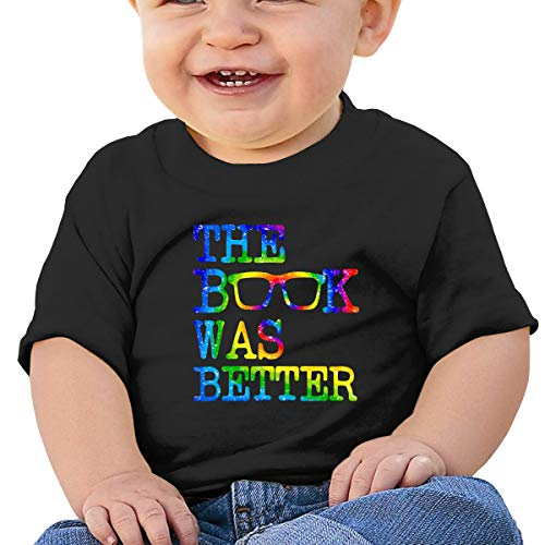 Lixue The Book was Better Funny Baby Boys' Toddler Infant Crew Neck Short Sleeve T-Shirts