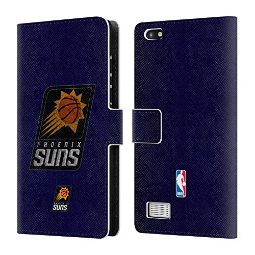 Official NBA Distressed Phoenix Suns Leather Book Wallet Case Cover For BlackBerry (Phoenix Suns Black Leather)