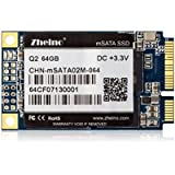 Zheino mSATA 64gb SSD (30x50mm) Solid State Drive SSD MLC Flash for Mini Pc Tablet Pc with 128M Cache