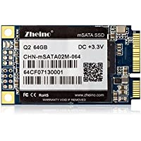 Zheino Q2 Msata 64gb SSD with 128M Cache (2D MLC) Solid State Drive for Mini Pc Tablet Pc