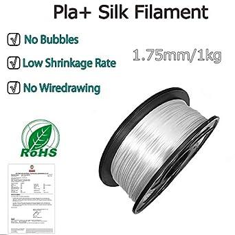 Silk Filament 1.75mm 1Kg,Silk PLA 3D Printer Filament Suitable for Most 3D Printers E-DA PLA silk gold