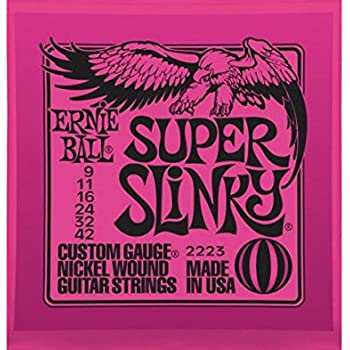 Ernie Ball 2223 Super Slinky String Set (9 - 42) Electric Guitar Strings -