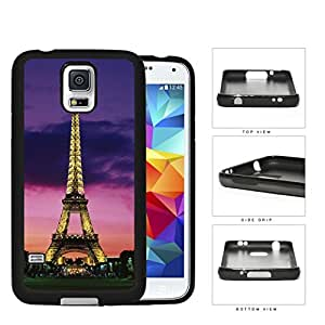 Paris France Eiffel Tower At Night Rubber Silicone TPU Cell Phone Case Samsung Galaxy S5 SM-G900