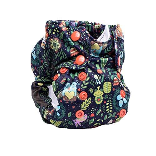 No Prep Cloth Diaper for Newborns - Smart Bottoms Born Smart 2.0 - Washable, Reusable - Natural Fiber Interior (Enchanted)