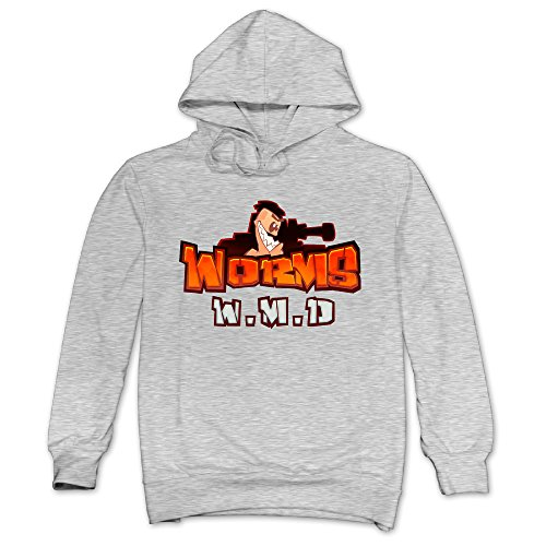 [JXMD Men's Worms W.M.D Hoodie Ash Size XXL] (Young Elvis Presley Costumes)