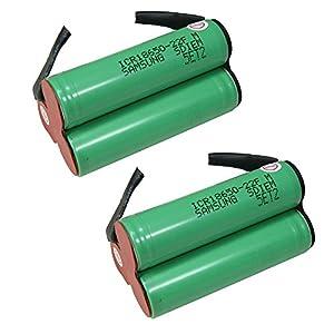 2 x 10 8 v 2200 mah li ion battery from samsung brand. Black Bedroom Furniture Sets. Home Design Ideas