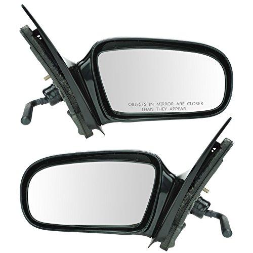Side Door Manual Mirror Left LH & Right RH Pair Set for 95-05 Chevy 4 Door Sedan