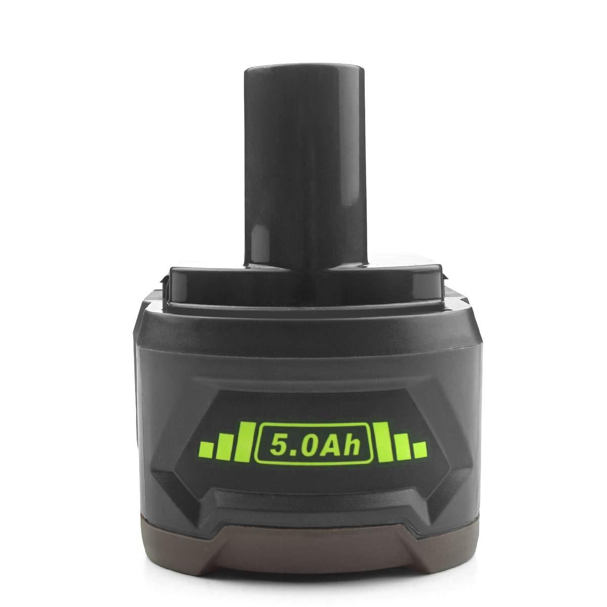 ADVNOVO 18V 5.0Ah Li-ion Bater/ía de Reemplazo para Ryobi 18V One P108 P104 P105 P102 P107 Ryobi 18V Bater/ía