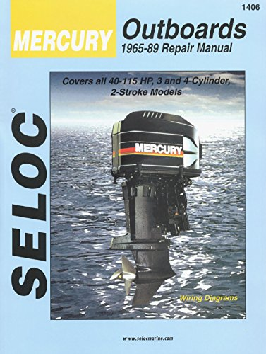 Sierra International Seloc Manual 18-01406 Mercury Outboards Repair 1965-1989 40-115 HP 3-4 Cylinder 2 Stroke Model ()