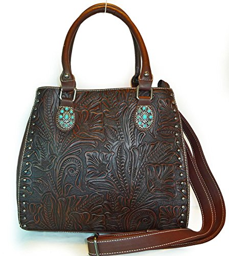 trinity-ranch-concealed-carry-tooled-leather-bucket-tote-w-strap-coffee