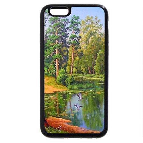 iPhone 6S / iPhone 6 Case (Black) beautiful forest lake in autumn