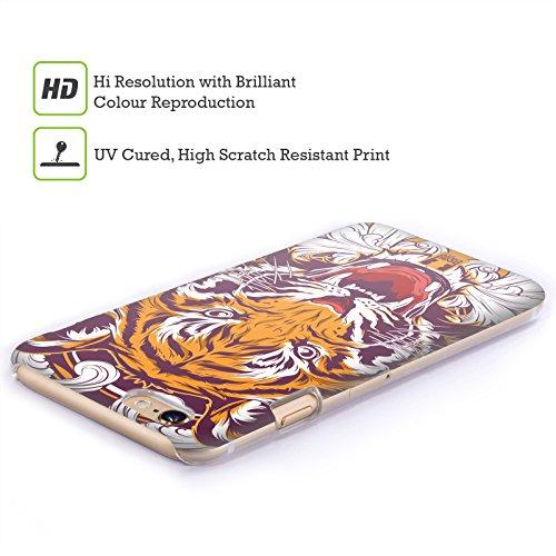 Head Case Designs Tigre Bestie Selvagge Cover Retro Rigida per Apple iPhone 7 / 8