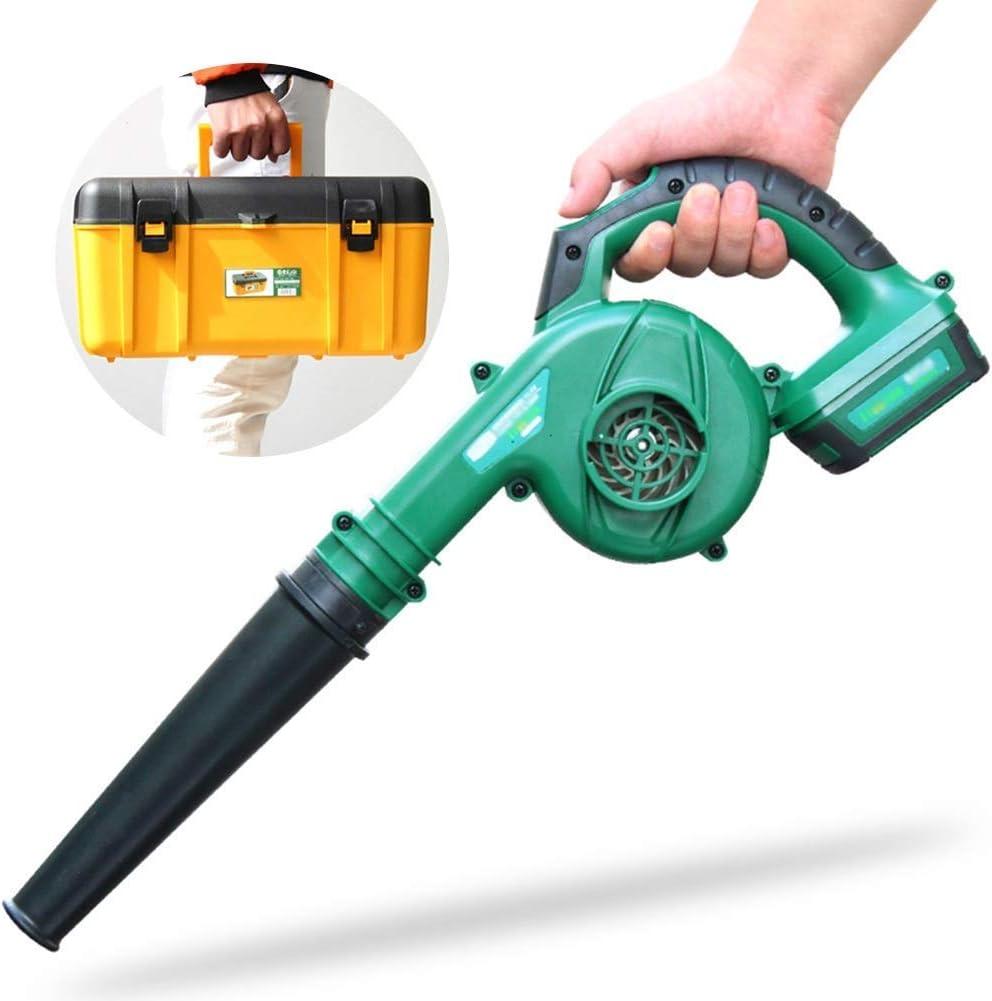 Eléctrica soplador de hojas - 3 en 1 Jardín del ventilador y de vacío - picadora aspiradora Ligera, regulación de velocidad de 2 velocidades (Color: sola batería de herramientas) 1yess