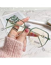 yqs Reading Glasses, Women Men Oversized Eyeglasses Frames Finished Eyewear