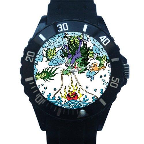 China dragón impresión de alta calidad de plástico cuarzo reloj de pulsera: Amazon.es: Relojes