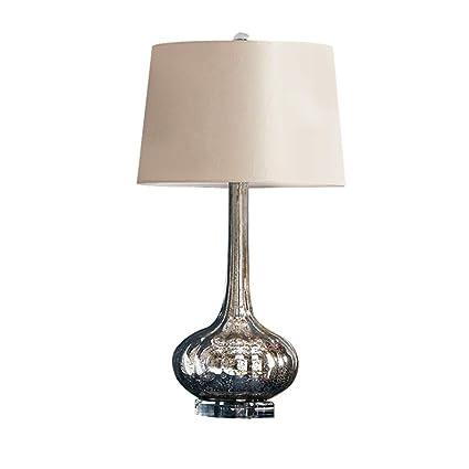 Lámpara de Cabecera Corrugada de Cristal Clásico, Pantalla ...