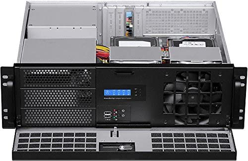 Rackmount Chassis 14.96 Deep Fan LCD IPC-G3088D mATX//Mini ITX PLINKUSA RACKBUY 3U Lock Door NO Power Supply,No Rail,No System and Case Only Mini Redundant PSU OK! 3x5.25+5x3.5