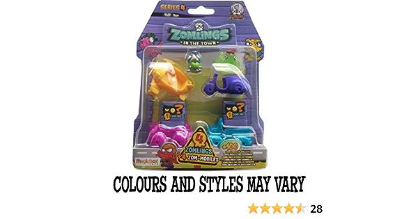 Zomlings Serie 4 blister (4 Zom-móvil y 4 Zomlings): Amazon.es: Juguetes y juegos