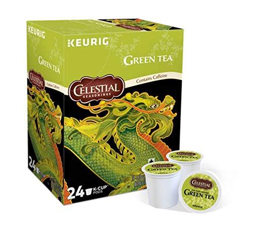 Keurig Tea and Ice Tea Pods K-Cups 18/22 / 24 Count Capsules ALL BRANDS/FLAVORS (Twinings/Chai/Celestial/Lipton/Tazo/Diet Snapple) (24 Pods Natural Antioxidant Green Tea) -  Globalpixels
