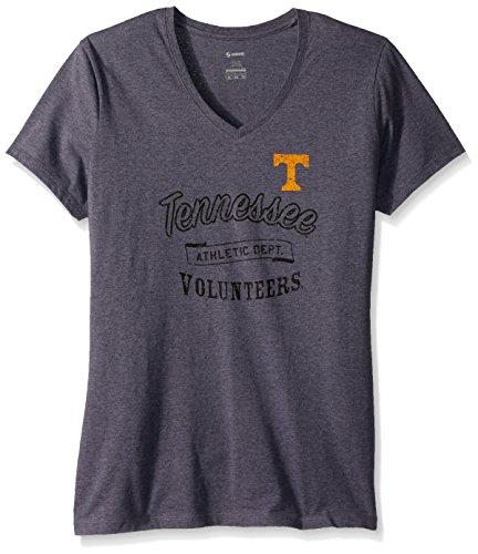 Soffe NCAA Tennessee Volunteers Women's Core Tee, Large, Grey Heather