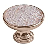 Swarovski Rose Gold Crystal Pull Knob, 1.34 inch by 0.94 inch, Rose Gold Finish, 708 L RG RG