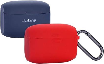 Esimen Protective Skin Cover for Jabra Elite 65 Wireless Sports Earbuds Black Jabra Elite Active 65t Silicone Case